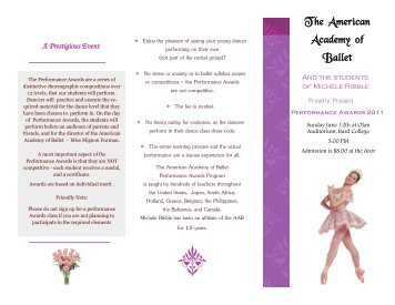 The American Academy of Ballet - Rhinebeck Dance Centre
