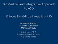 BioMedical and Integrative Approach to ASD - Curando el Autismo