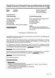 Protokoll der 29. Sitzung des Planungsausschusses vom 19.06.2012