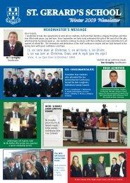 Senior School Christmas Newsletter 2009 - St. Gerard's School