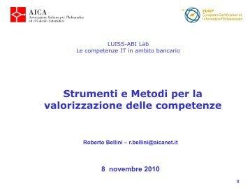 Strumenti e metodi per la valorizazione delle competenze - CeRSI
