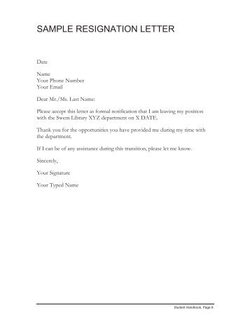 resignations letter example