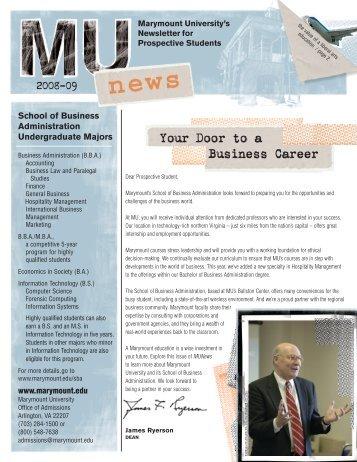 Newsletter - Marymount University in Arlington, Virginia