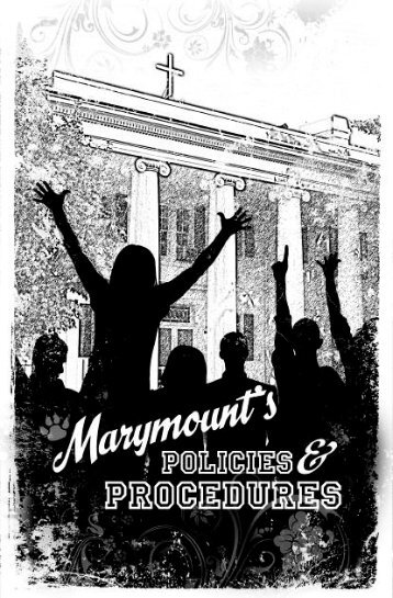 Marymount Student handbook - Marymount University in Arlington ...