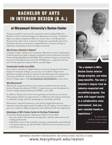 information - Marymount University in Arlington, Virginia