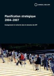 Planification stratégique 2004–2007 - VPPL - EPFL