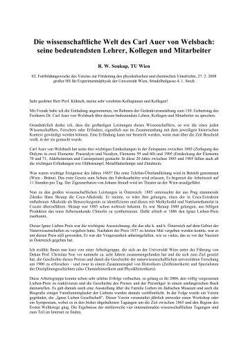 Die wissenschaftliche Welt des Carl Auer von ... - Universität Wien