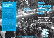 Flyer - Bündnis für Versammlungsfreiheit Stuttgart