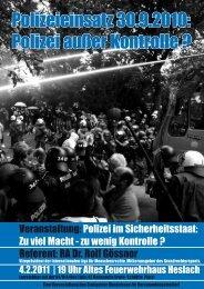 Polizei außer Kontrolle - Bündnis für Versammlungsfreiheit Stuttgart