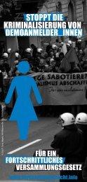 Stoppt die Kriminalisierung von DemoanmelderInnen! - Bündnis für ...