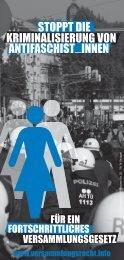 Stoppt die Kriminalisierung von AntifaschistInnen! - Bündnis für ...