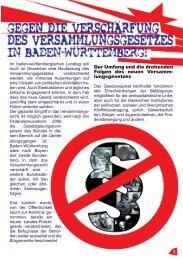 Revolutionäre Aktion Stuttgart - Bündnis für Versammlungsfreiheit ...