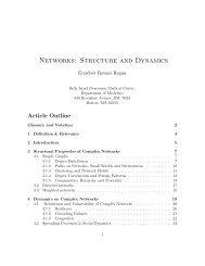 Networks: Structure and Dynamics - Erzsébet Ravasz Regan