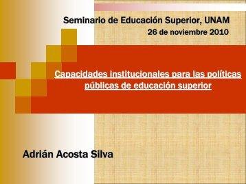 Capacidades institucionales para las políticas públicas de ...