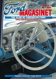 Sid 1 Fordmagasinet nr 1 • 2010 - The Club of American Ford