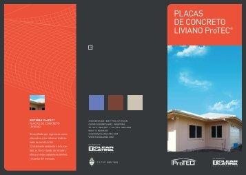 PLACAS DE CONCRETO LIVIANO ProTEC® - TCLEAR Latina ...