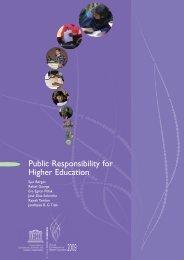 Public Responsibility for Higher Education - Seminario de ...