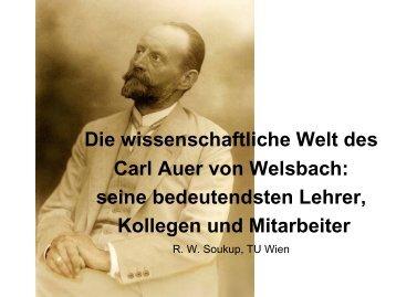 Die wissenschaftliche Welt des Carl Auer von Welsbach: seine ...