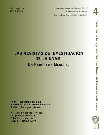 Las Revistas de Investigación de la UNAM: Un Panorama General