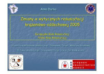Zmiany w wytycznych ERC z 2005 r. [5,46 MB]. Autor: Anna Durka