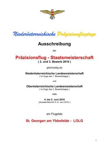 Präzisionsflug - Staatsmeisterschaft - Österreichischer Aero-Club ...