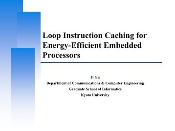 Application-Specific Design of Low Power Instruction Cache ...