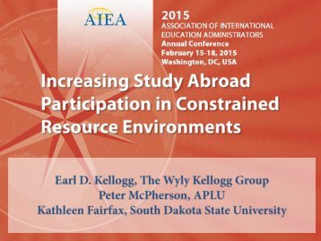 increasing study abroad participation in constrained resource environments- 2015