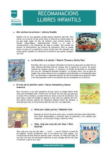 Recomendaciones Libros Infantiles - Mutxamel