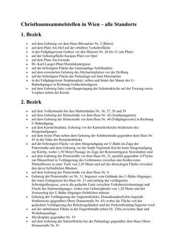 Christbaumsammelstellen in Wien – alle Standorte