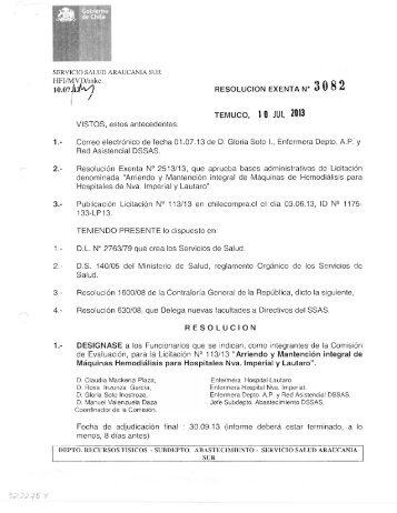 HFI/MVD/mkc. 10.07 fofa/) RESOLUCION EXENTA N* 3082 ...