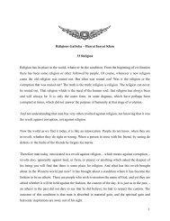 1 Religious Gatheka – Hazrat Inayat Khan 33 Religion Religion has ...