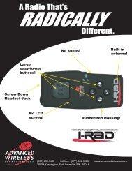 I-RAD Brochure - Advanced Wireless Communications