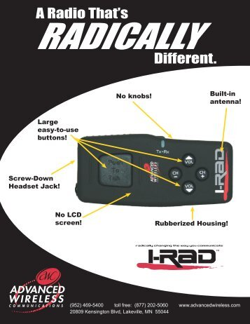 I-RAD Brochure - Advanced Wireless Communications
