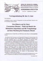 Vereinsnachrichten Juni 2013 - Depesche Nr. 21 - Verein für ...