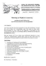 Vereinsnachrichten Januar 2013 - Depesche Nr. 17 - Verein für ...
