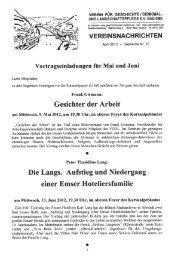 Vereinsnachrichten April 2012 - Verein für Geschichte, Denkmal ...