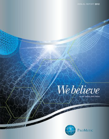 2012 Annual Report - Prometic - Life Science, Inc.