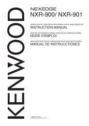 NXR-900/ NXR-901 - Kenwood