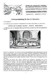 Vereinsnachrichten Dezember 2012 - Depesche Nr. 16 - Verein für ...