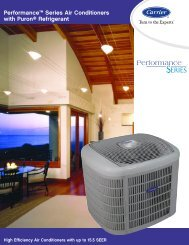 Performance™ Series Air Conditioners with Puron ... - Aire Pro Inc.