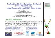 The Neutrino Electron Correlation Coefficient in Free Neutron Decay ...