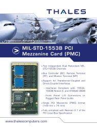 MIL-STD-1553B PCI Mezzanine Card (PMC) - Acoutronic.se