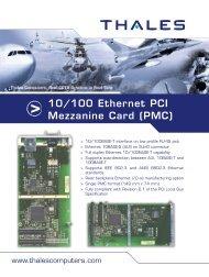 10/100 Ethernet PCI Mezzanine Card (PMC) - Acoutronic.se