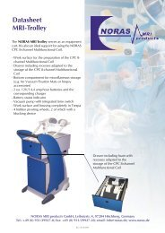 Datasheet MRI-Trolley - NORAS MRI products GmbH