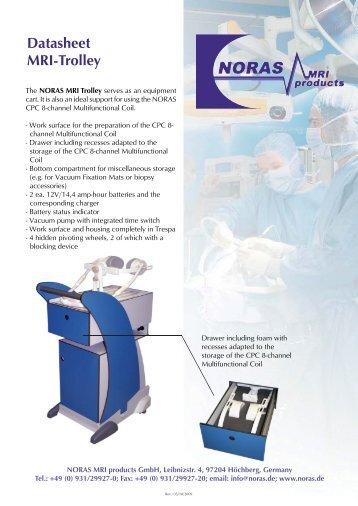 Datasheet MRI-Trolley - NORAS MRI products GmbH