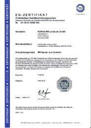 EG Zertifikat - NORAS MRI products GmbH
