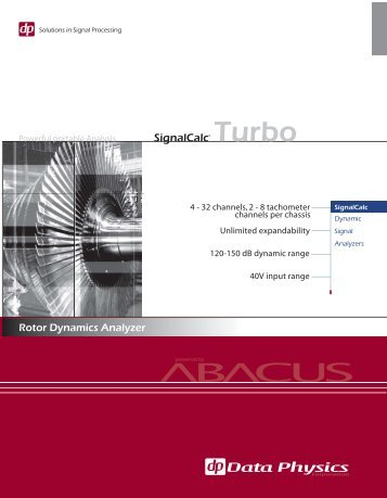 SignalCalc Turbo - Rotor Dynamics Analyzer