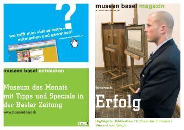 museen basel magazin - Supra erklärt die Welt