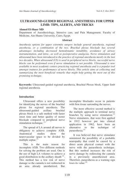 ultrasound-guided regional anesthesia for upper limb     - Asja-eg com