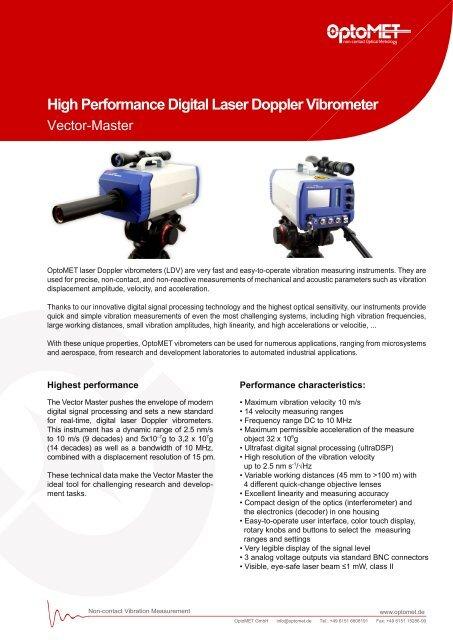 Laser Doppler Vibrometer vibration measuring instrument